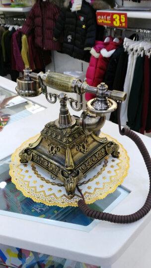 安斯艾尔 家庭时尚创意来电显示仿古电话机座机复古欧式老式古典电话 复古转盘-双铃 晒单图