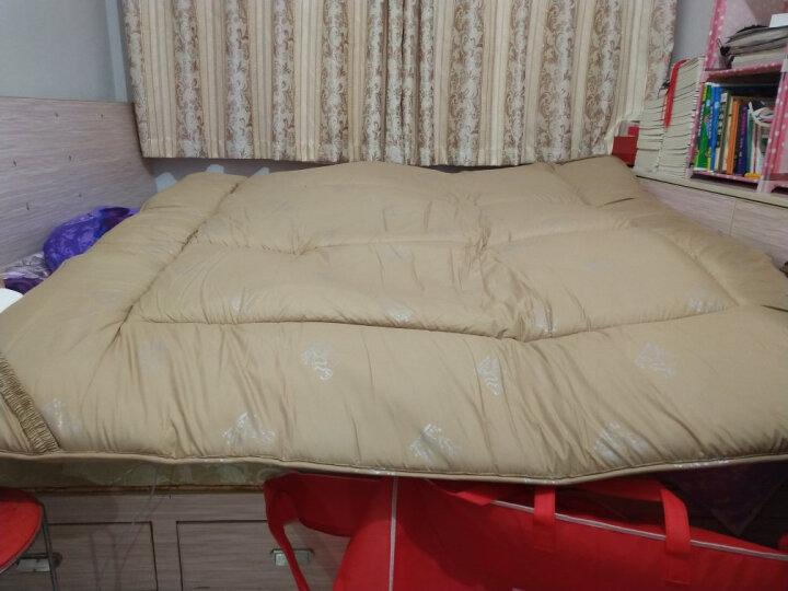 南极人(NanJiren)床垫家纺 加厚保暖羊毛榻榻米床垫 单双人床褥 垫被 1.8米床 晒单图