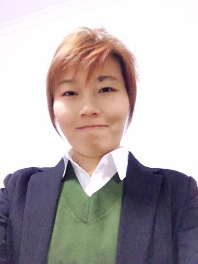 广服 职业衬衫女加绒2018装新款OL女士修身白色v领韩版正装纯色打底衬衣短袖 白色长袖-无绒(纯棉)0423 165/L 晒单图