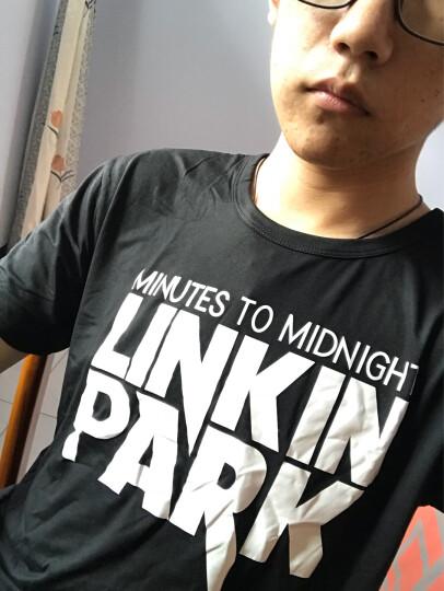 RAPANUI 短袖T恤男林肯公园夏半袖 灰色 L 晒单图