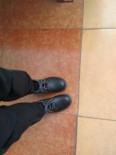 桔觅男靴真皮马丁靴耐磨英伦07式作战靴低帮春款靴新款加绒保暖雪地 689黑色 单靴 39码 晒单图