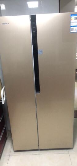 康佳(KONKA)430升 风冷无霜 电脑温控 节能保鲜 对开门冰箱 (金色)BCD-430WEGX5S 晒单图
