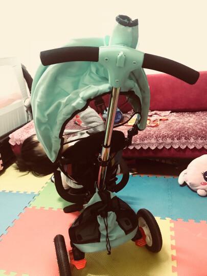 小虎子 大踏板 儿童三轮车 宝宝折叠脚踏车 婴儿车自行车 儿童车T300升级款 2018升级爆款 极光黄 晒单图