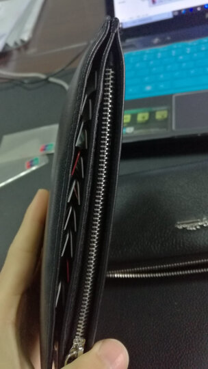 七匹狼(SEPTWOLVES) 男士牛皮卡包多卡位银行卡片包大容量信用卡套牛皮钱夹证件包 3A1351204-01 晒单图