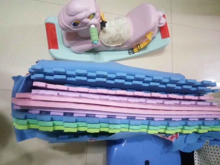 绿美佳宝宝爬行垫60*60cm加厚环保健康婴儿拼接爬爬垫小孩垫子树叶纹儿童泡沫地垫 蓝色1片(送边条) 60*60*1.2cm 晒单图