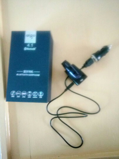 爱国者(aigo) 爱国者车载蓝牙耳机X6 挂耳式商务智能语音免提电话耳机立体声 黑色 晒单图