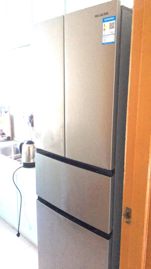 美菱(MELING)302升电脑控温 软冷冻保鲜 节能静音 法式多门冰箱 月光银 BCD-302M9CX 晒单图