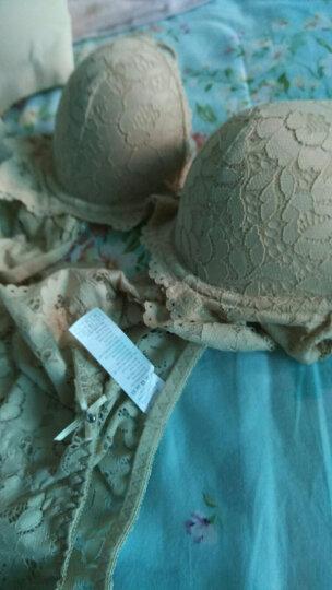 紫曼羽文胸套装内衣女性感小胸蕾丝胸罩聚拢调整型侧收副乳 粉色 1833款 34/75B 晒单图