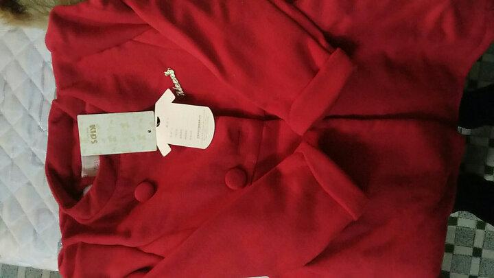 小儿郎(XiaoErLang) 童装女童毛呢大衣女童外套冬装儿童羊毛呢子外套 中大童风衣 蓝色 150 晒单图