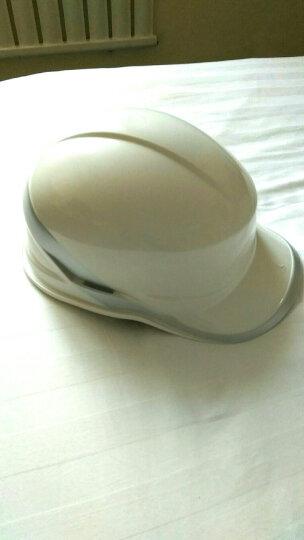 代尔塔 工地安全帽 绝缘安全帽 带荧光条 工程 ABS 电工安全帽 102018 白色 晒单图