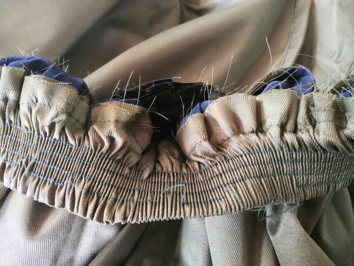 谋福CNMF80192 分体式加厚帆布抗洪救灾建筑工矿雨衣雨裤套装橡胶雨衣劳保电动车骑行雨具(帆布分体款)可定制 晒单图