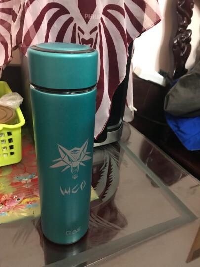 然也(RAE)450ml双层不锈钢保温杯壶WCO系列泡茶杯子 男女士情侣学生时尚商务车载办公水杯 蓝色R3322 晒单图