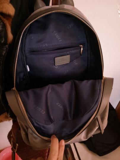 克路驰双肩包女韩版潮流女士书包休闲时尚牛皮柳钉旅行小背包 灰色 晒单图