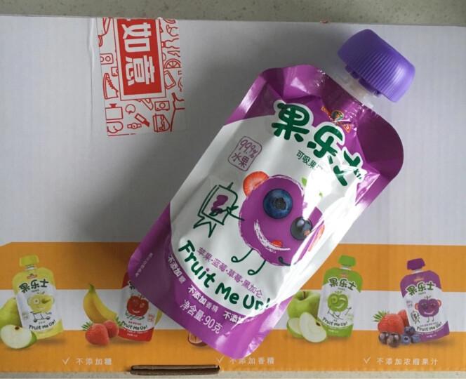 果乐士苹果蓝莓黑加仑草莓可吸果泥90g*9安德鲁宝宝辅食儿童食品99.9%水果+0.1%vc 晒单图