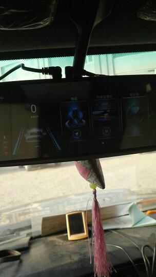 丁威特 新款行车记录仪双镜头高清夜视后视镜倒车影像停车监控 8吋+双镜头高清神器无光夜视版+无卡 晒单图