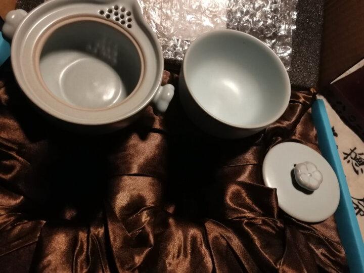 金镶玉 旅行功夫茶具 一壶一杯套装陶瓷便携茶杯 梅花快客杯 晒单图