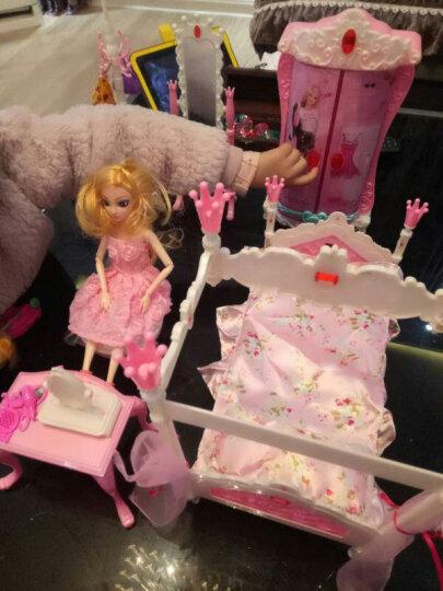 芭比娃娃套装大礼盒情景玩具屋过家家声光音乐女孩换装12关节3D真眼美瞳迷糊洋娃娃 小芭比白纱系列 晒单图