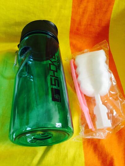 SHOKE 便携运动水杯男女健身旅行太空杯防漏透明学生杯子户外大容量水壶塑料随手杯 (500ML)阳光绿 晒单图
