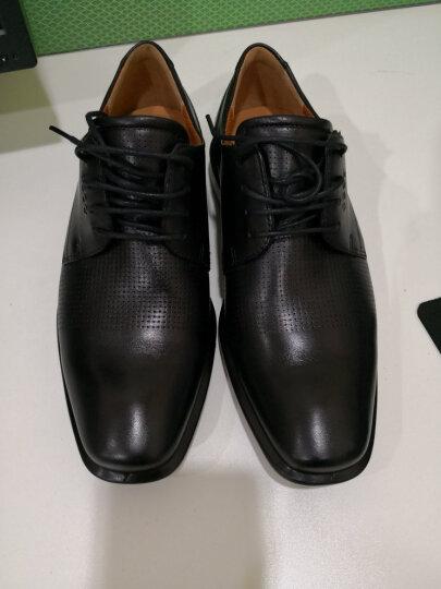 ECCO爱步 时尚青年商务休闲皮鞋 圆头缓震透气舒适系带男鞋 开罗631774 黑色63177411001 40 晒单图
