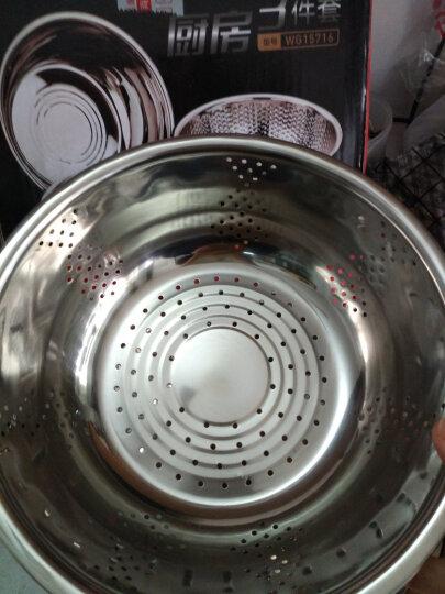 炊大皇(COOKER KING) 米筛三件套厨房淘米器洗米筛淘米盆沥水洗菜盆 晒单图