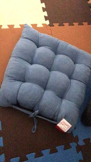 九洲鹿 坐垫家居 时尚加厚麂皮绒坐垫沙发垫子 办公室美臀坐垫汽车座垫 蓝色 36*36cm(单只装) 晒单图