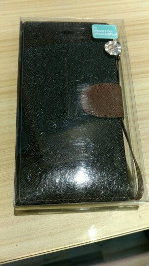 iPhox适用于苹果iphone6plus手机壳保护皮套防摔硅胶翻盖钱夹手机套5.5英寸 黑+棕 6plus5.5英寸 晒单图