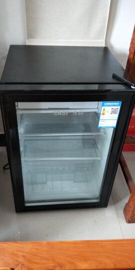 SAST 冰吧保鲜柜家用酒柜单门迷你电冰箱小型恒温玻璃展示柜 酒店冷藏柜茶叶冷柜BC-71 白胆钢化玻璃+带锁+全冷藏+微冷冻 晒单图