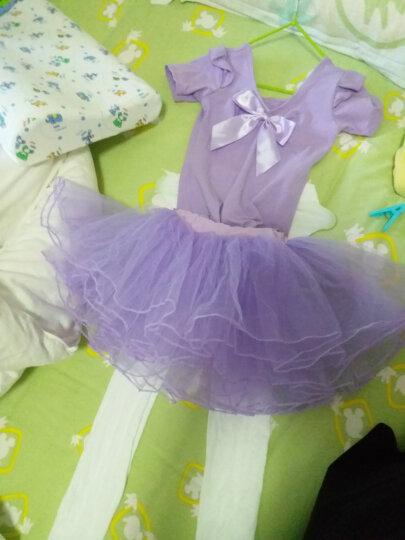 卡维妲(KAWEIDA) 儿童舞蹈服装芭蕾舞裙 女童舞蹈服练功服短袖女孩舞蹈裙跳舞衣演出服 紫色短袖款 110适合身高105-115cm 晒单图