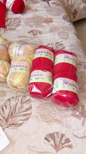 艾秀 亲肤奶棉绒 牛奶棉线宝宝毛线中粗婴儿童蛋白绒毛线特价 15藏蓝 晒单图