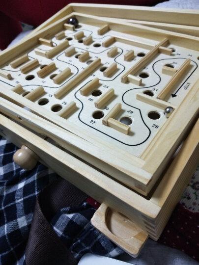 金钥匙36关平衡滚珠迷宫  儿童老人休闲桌游游戏玩具 木制玩具 迷宫游戏 晒单图