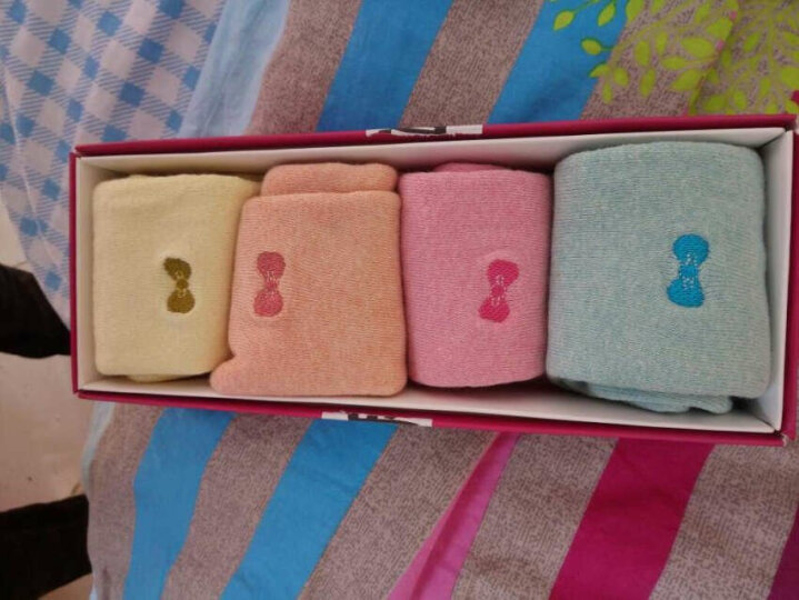 猫人秘密(MIIOW SECRET)袜子女袜中筒保暖毛巾袜船棉质休闲运动短袜 简约彩虹袜6双-中筒 晒单图