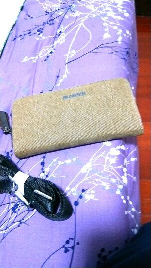 布维斯BUWEISI男士钱包 帆布时尚长款钱夹多功能多卡位韩版钱包s018 洗水深咖色 晒单图
