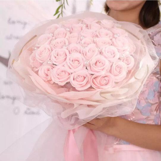 初朵33朵粉色圆手捧保鲜花速递香皂花玫瑰花礼盒520情人节鲜花礼物生日礼物送女生送女友 晒单图