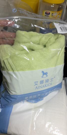艾娜骑士 婴儿浴巾竹纤维新生儿大浴巾宝宝竹纤维澡巾 绿色70*140 晒单图