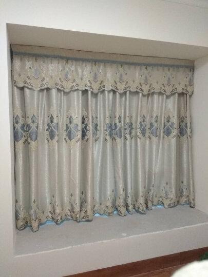 海度罗 窗帘成品定制现代卧室客厅落地窗帘布餐厅珍珠纱窗帘 珍珠纱+丝绒麻 挂钩/每1米 (要几米拍几件) 晒单图