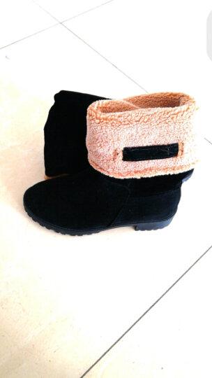 诗紊 新款雪地靴 长短两穿女靴子加绒加棉中筒靴马丁靴中低跟粗跟圆头长靴  冬季棉鞋 灰色 40 晒单图