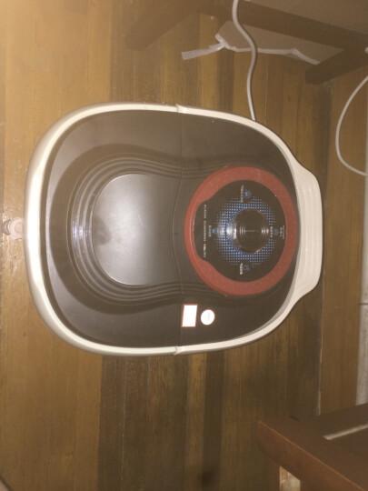 南极人(NANJIREN) 【明星推荐】全自动足浴盆电动深桶加热洗脚盆 自助按摩泡脚桶 NBX7F51773黑红色 晒单图