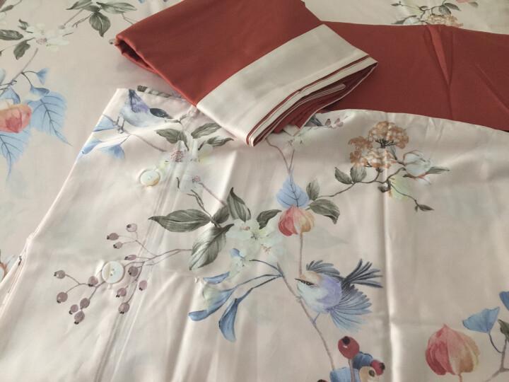 LEELAND礼澜家纺 美式田园花卉60支长绒棉数码印花全棉床上四件套纯棉贡缎床单被套4件套 熙悦 1.8米-2.0米床 /220*240cm 晒单图