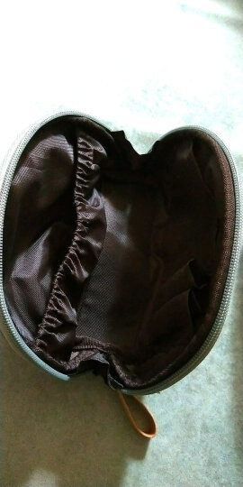 小号便携旅行简约化妆袋手拿包韩版包中包化妆品收纳包扇形化妆包 湖蓝色 晒单图