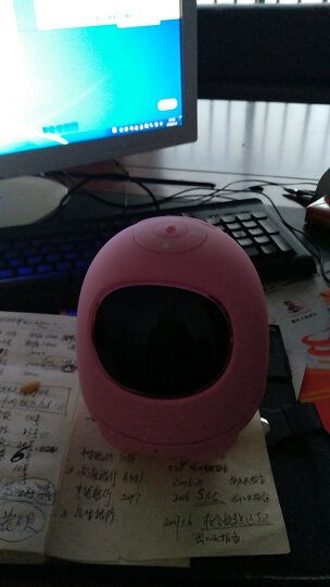 科大讯飞阿尔法蛋机器人小蛋早教益智陪伴语音对话智能机器人玩具 粉色 晒单图