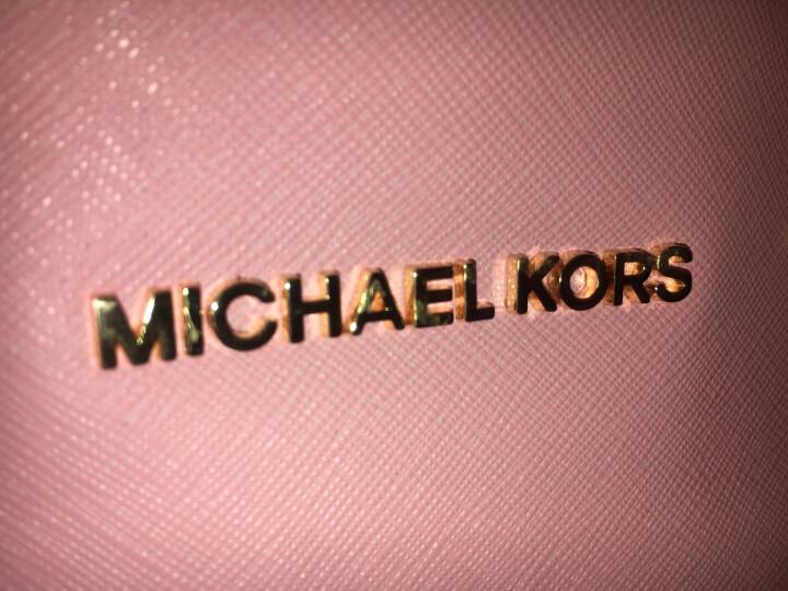 MICHAEL KORS 迈克·科尔斯 MK女包 深棕色牛皮女士小号手提单肩斜挎包 30F4GSUS5L LUGGAGE 晒单图
