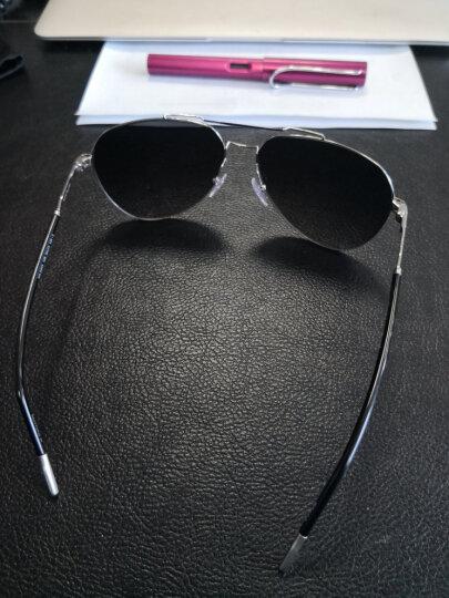 Montblanc 万宝龙 男款 飞行员框银黑色镜框深灰色镜片眼镜太阳镜 MB695S-16B 60MM 晒单图