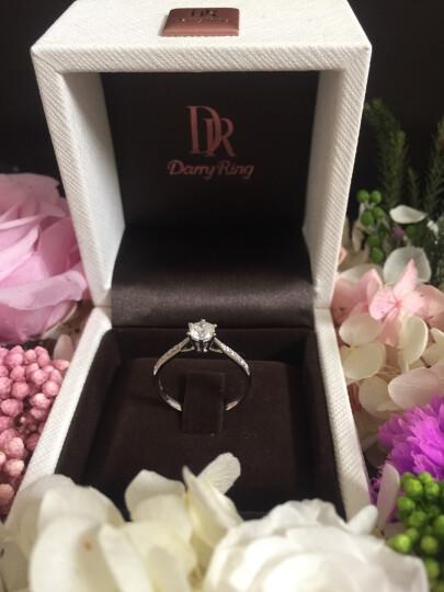 DR Darry Ring 白18K/铂金六爪女款钻戒求婚结婚戒指佩戴女 真爱钻戒 限购一枚 白 18K金 晒单图