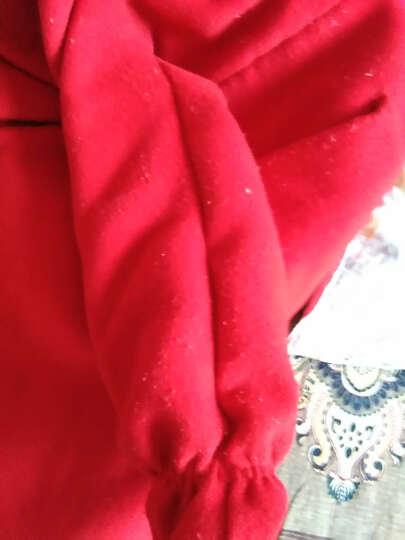 木一多 童装女童毛呢外套秋冬装2019新款韩版儿童风衣外套中大童上衣 红色外套 120(建议身高110CM左右) 晒单图