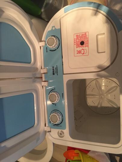 司迈特(SMARTEM) 3.5公斤半自动洗衣机小型迷你波轮母婴儿童双桶双缸脱水机 XPB35-688S天蓝色 晒单图