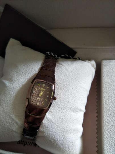 【送女友】多姆(DOM)手表女表时尚潮流钨钢带表休闲防水女士手表石英表学生腕表 咖啡色 晒单图