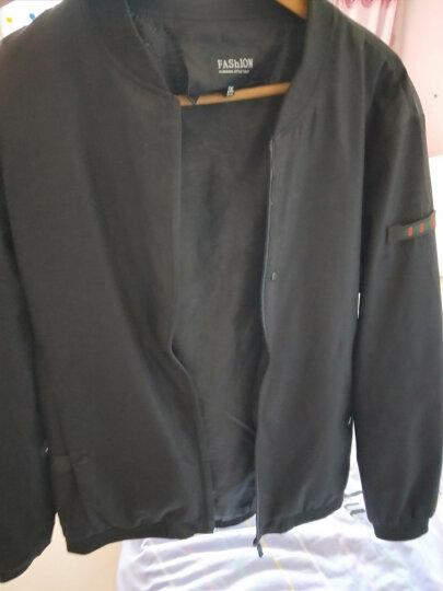 Andralyn 外套男2018春季新款春装韩版修身男装棒球衣服休闲夹克MT J6831、J6810 黑色J6810 XL 晒单图