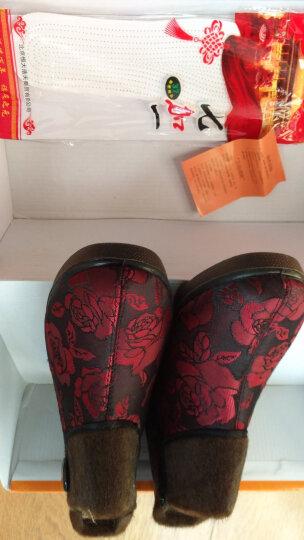 颐福元老北京布鞋妈妈鞋女冬季棉鞋中老年棉靴保暖防滑软底高帮老人鞋 红色 37 晒单图