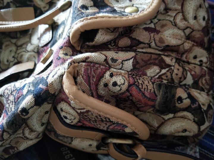 DANNY BEAR丹尼熊2016女包秋冬季新款休闲单肩包配斜挎包双肩包套装组合子母包 迷彩紫配卡其 晒单图
