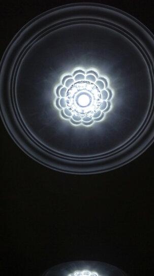 米恩 led射灯筒灯3W瓦孔灯彩色水晶灯洞灯客厅卧室天花过道走廊灯(开孔5.5至8厘米) 茶色面板(开孔5.5至8cm) 白光+紫光 晒单图